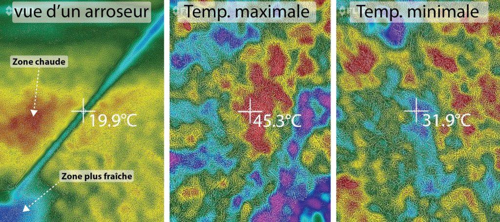 Imagerie thermique utilisée lors des mesures